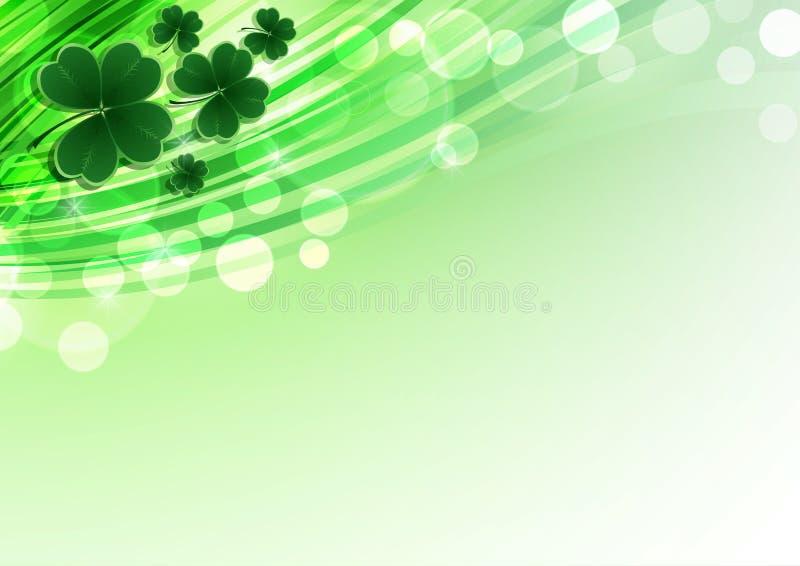 Vector glücklichen Heiliges Patricks-Tageshintergrund mit Klee stock abbildung