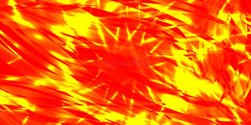 Vector glühenden Explosionshintergrund des roten und gelben Fließens Lin vektor abbildung