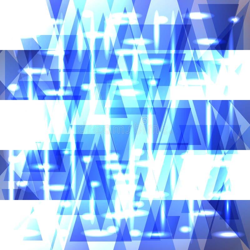 Vector glanzend hemel blauw patroon van scherven en strepen royalty-vrije illustratie