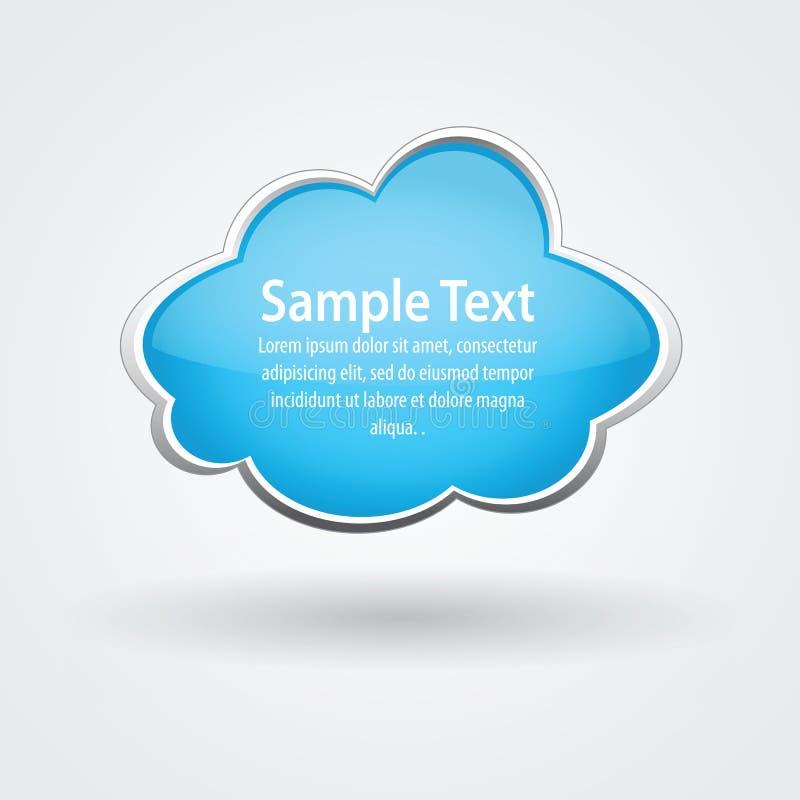 Vector glanzende wolk voor tekst stock illustratie