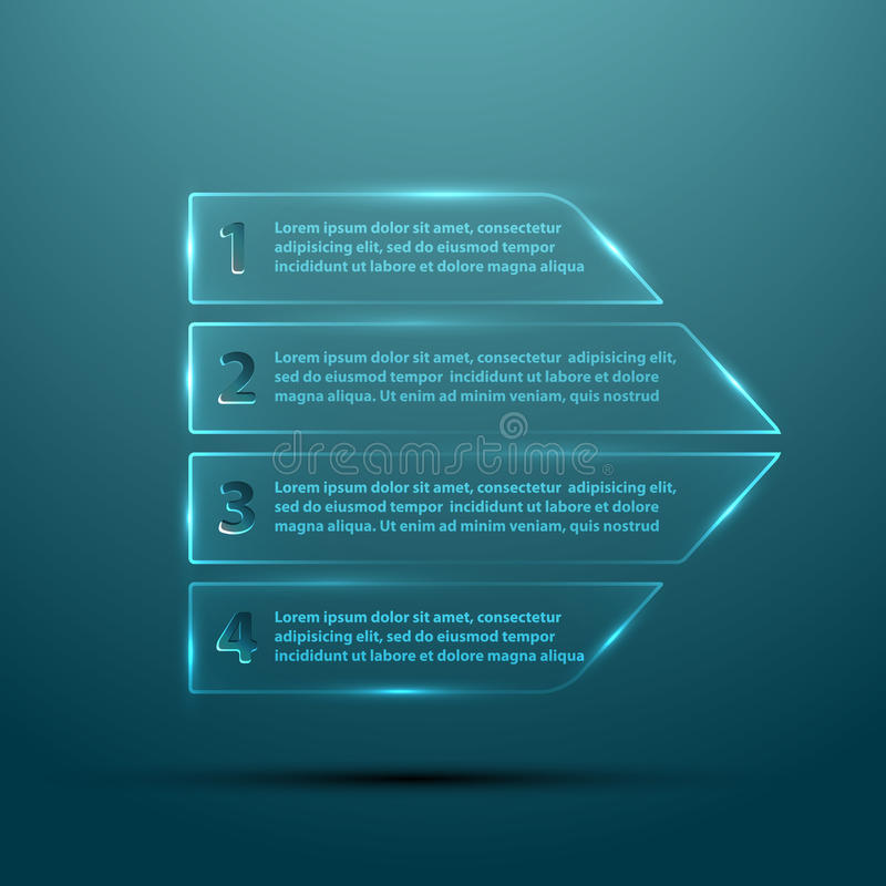 Free Vector Glass Arrow For Infographic Stock Photography - 34551772