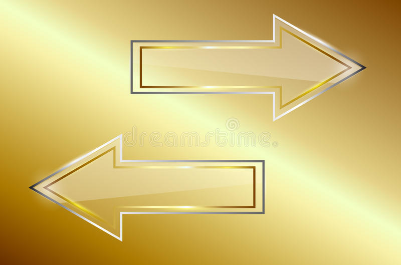 Download Vector glass arrows stock vector. Image of metal, style - 31509205