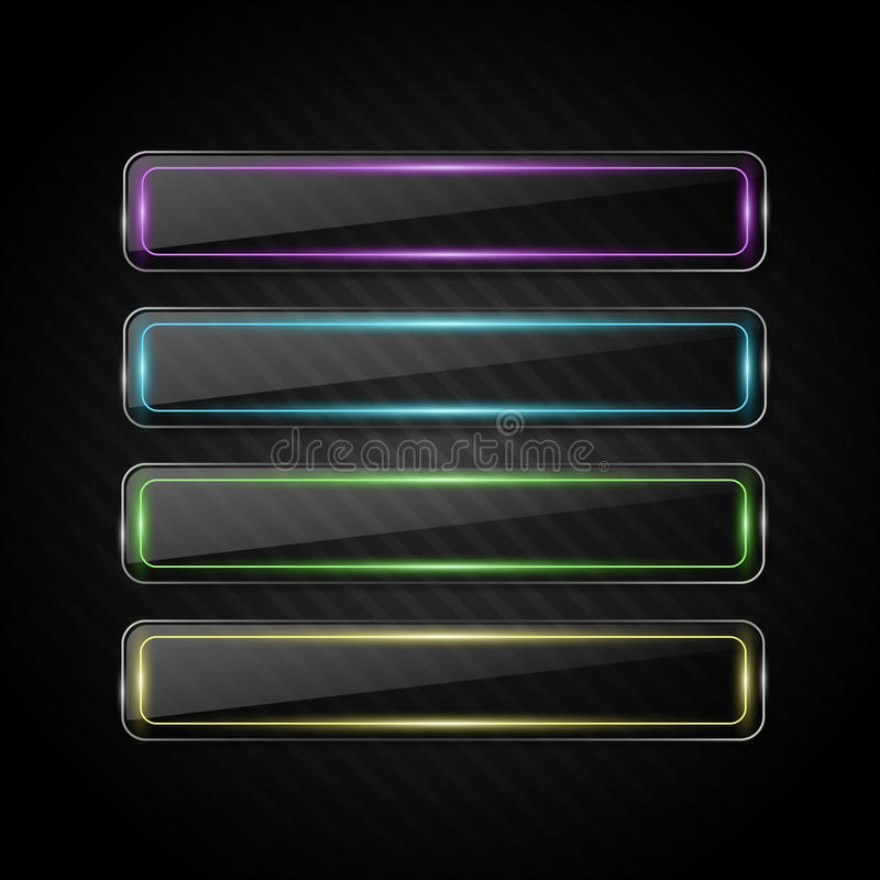Vector glass banners vector illustration