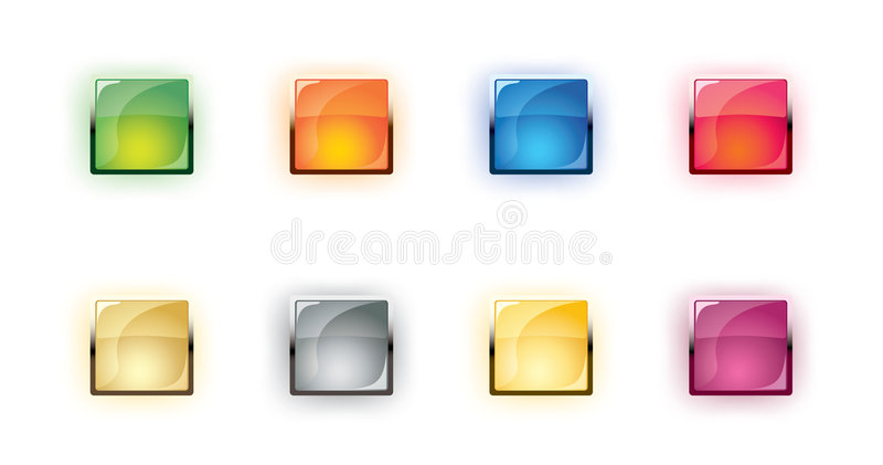 vector glass shone buttons vector illustration