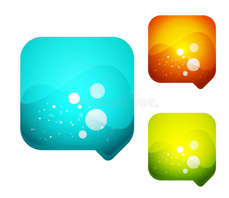 Download Vector Glass Speech Bubble Background Stock Vector - Image: 20450012