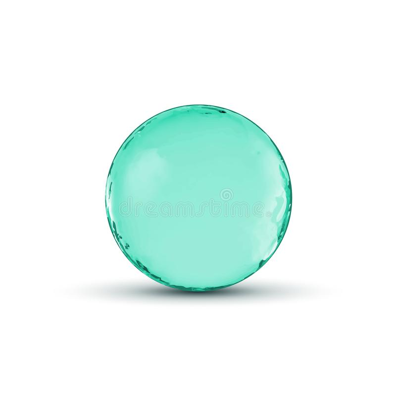 Vector glass sphere ball design. Glossy circle or bubble with shadow. Abstract 3d illustration vector illustration