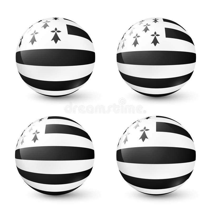 Download Vector Glass Spheres Set With Breton Flag Inside Stock Vector - Image: 83712591
