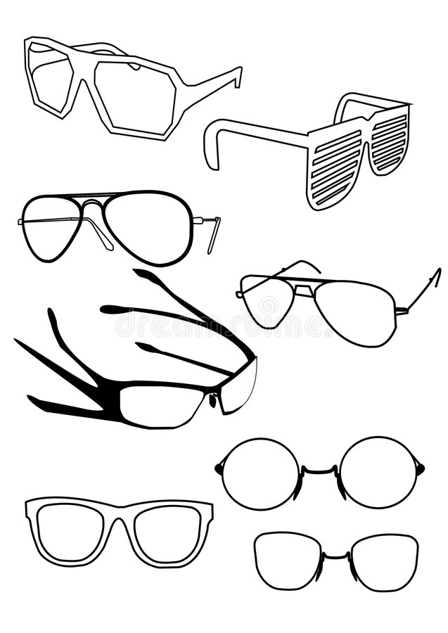 Download Vector glasses stock vector. Illustration of studio, glasses - 4333898