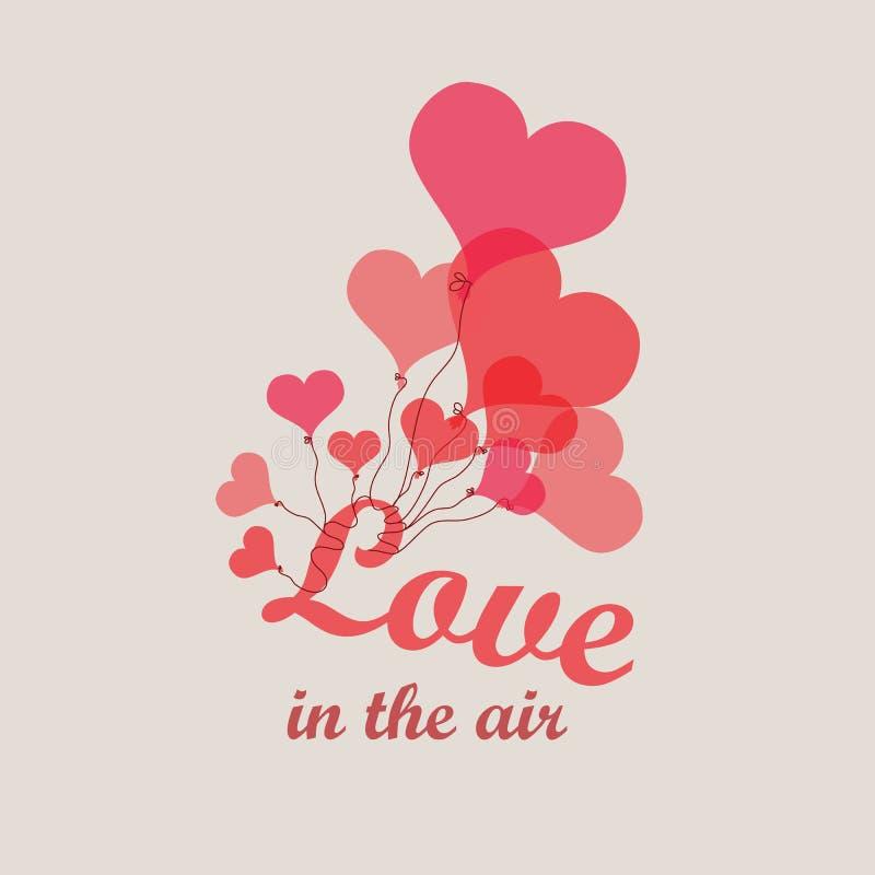 Vector gli impulsi del cuore - fondo - amano nell'aria illustrazione vettoriale