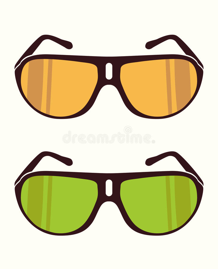 Vector gli occhiali da sole immagini stock