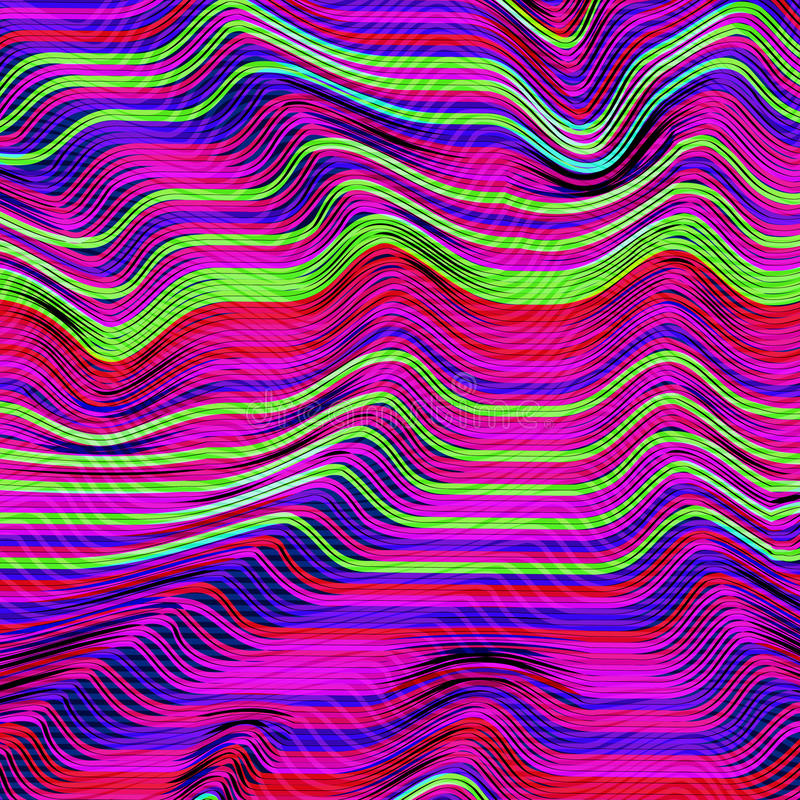 Vector glitch background. Digital image data distortion. Corrupted image vector file. Colorful abstract background for. Your designs. Chaos aesthetics of signal royalty free illustration
