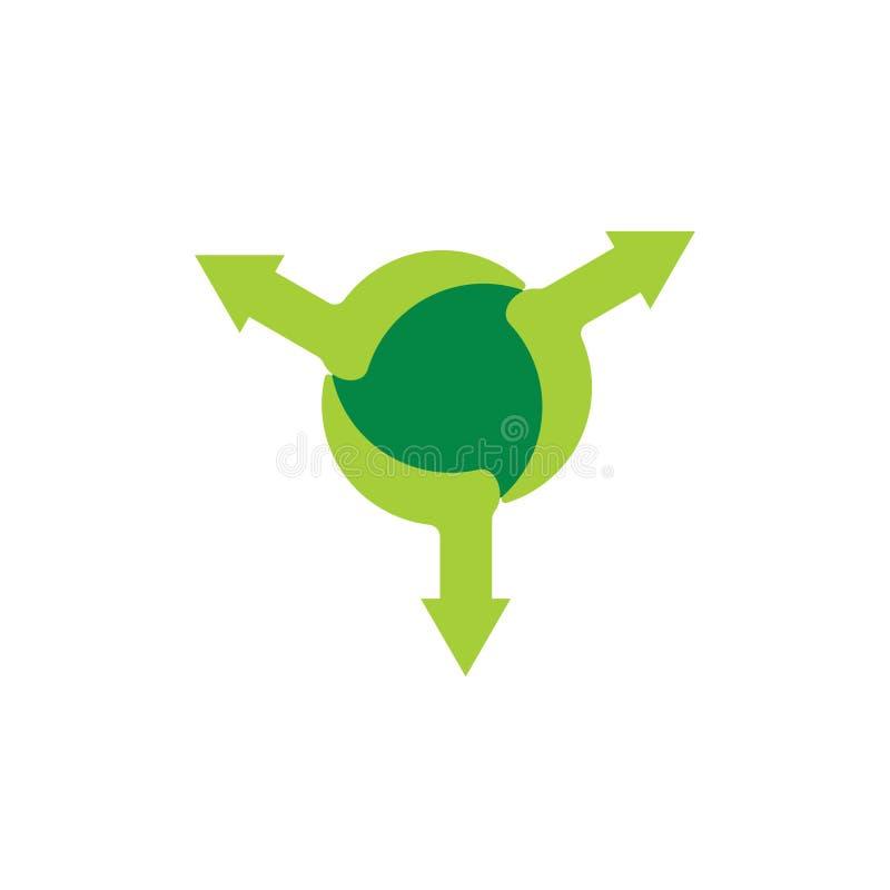 Vector global del símbolo de la extensión del movimiento de la flecha ilustración del vector