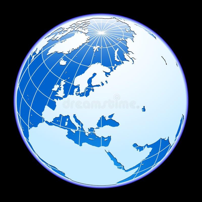 Vector globe. royalty free illustration