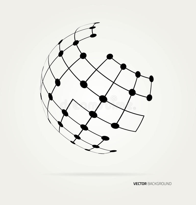 Vector globe icon. Abstract image of a globe lines. Vector