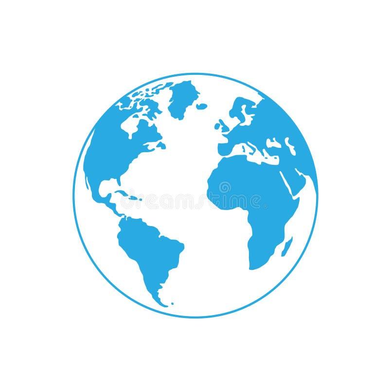 Vector globe icon of the world royalty free stock photos