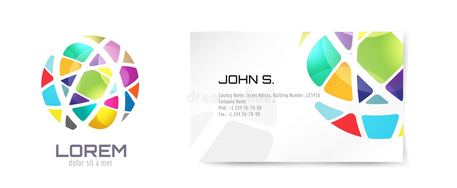 Vector globe logo and business card template stock vector download vector globe logo and business card template stock vector illustration of illustration emblem reheart Images