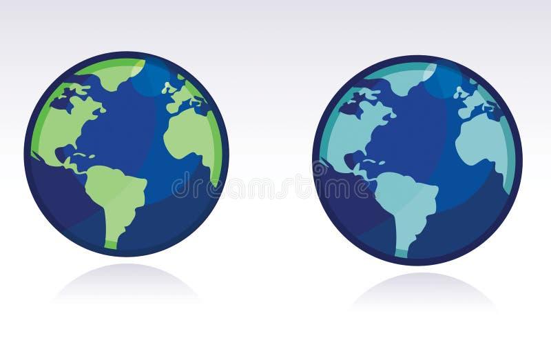 Vector Globe - WORLD MAP royalty free illustration