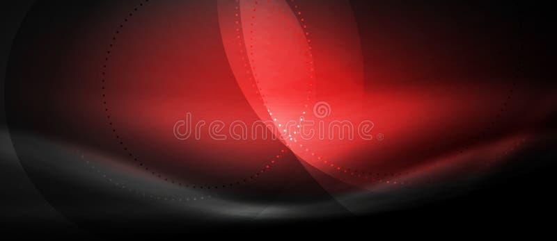 Vector gloeiende stromende de krommeachtergrond van het golfneon vector illustratie