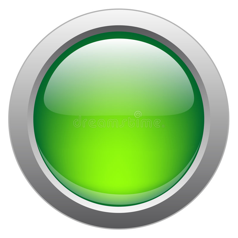 Free Vector Glossy Button For Web Applications Royalty Free Stock Images - 8339859