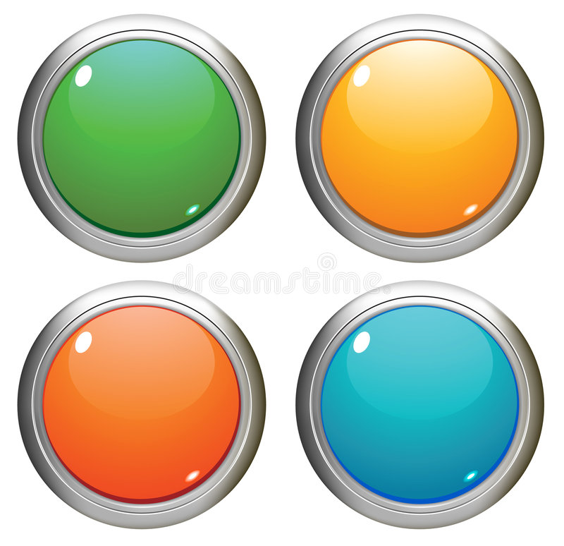 Download Vector glossy buttons. stock vector. Image of orange, icons - 8546321