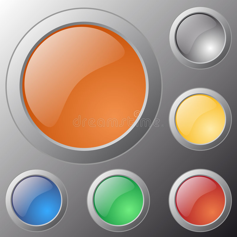 Download Vector Glossy Buttons For Web Applications Stock Vector - Image: 8339850