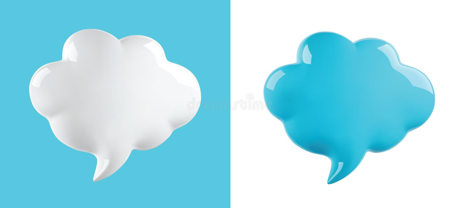 Vector glossy cloud bubble. Glossy cloud bubble, vector illustration stock illustration