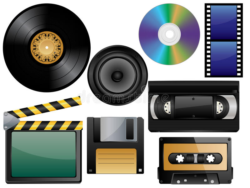 Vector Glossy Icon Set Stock Images