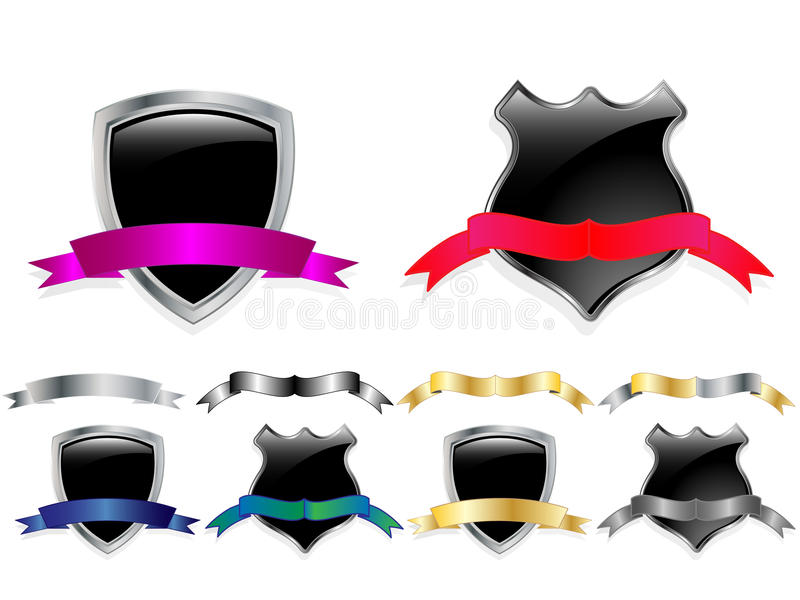 Download Vector Glossy Shields Set Royalty Free Stock Photo - Image: 14724825