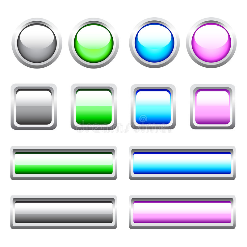 Vector Glossy Web Buttons stock illustration