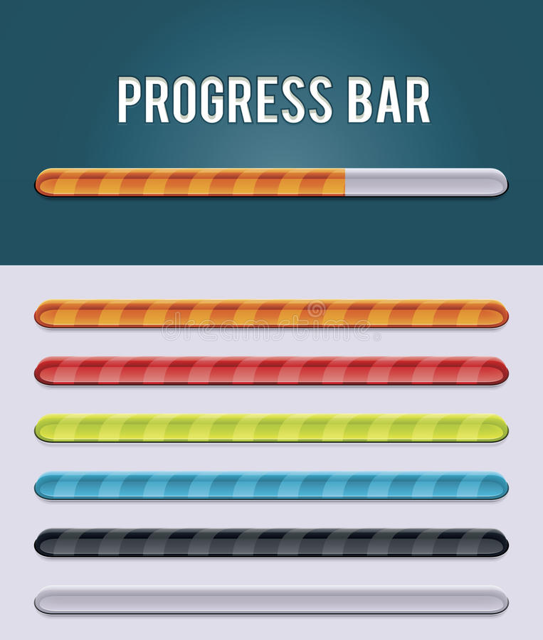 Vector gloving progress bar vector illustration