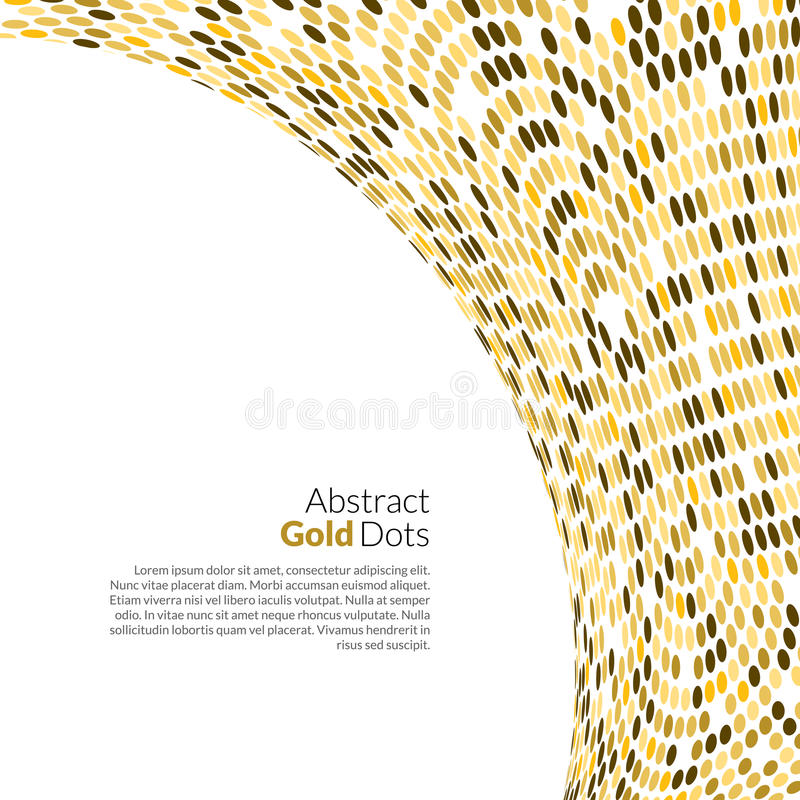 Vector Gold background. Round golden mosaic concept.  royalty free illustration