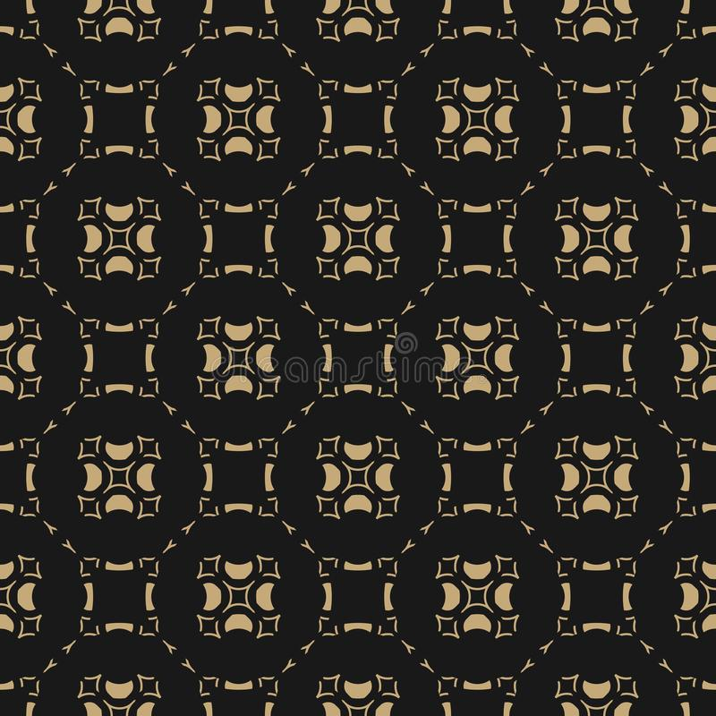Vector gold and black background. Abstract grid geometric seamless pattern. vector illustration