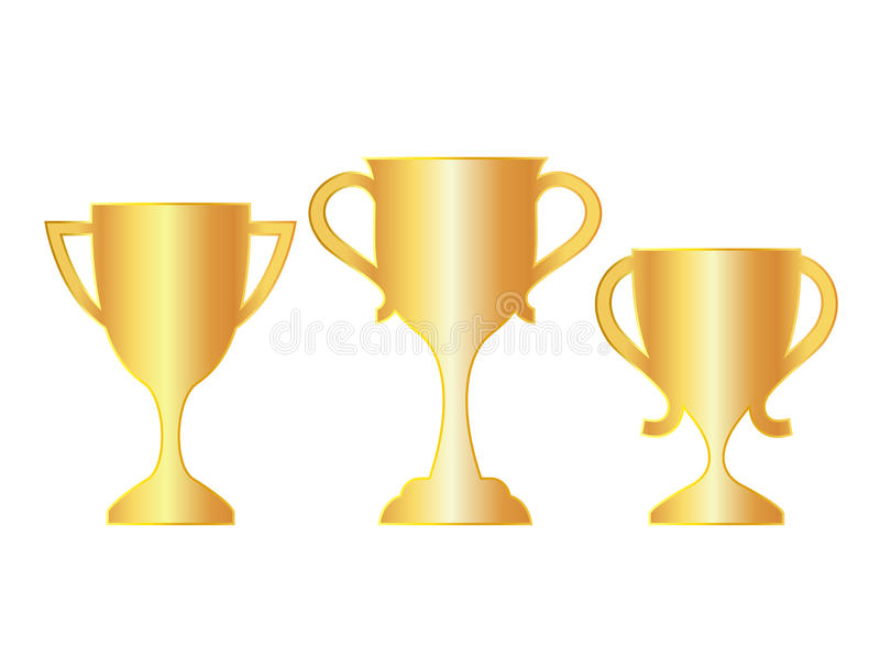Vector gold cup icons vector illustration