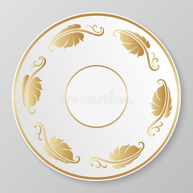 Download Vector Gold Decorative Plate. Stock Vector - Illustration of pattern filigree 44143402  sc 1 st  Dreamstime.com & Vector Gold Decorative Plate. Stock Vector - Illustration of pattern ...
