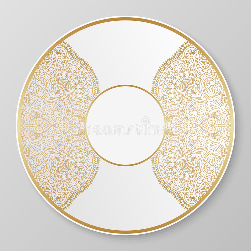 Download Vector Gold Decorative Plate. Stock Vector - Illustration of graphic gold 46550542  sc 1 st  Dreamstime.com & Vector Gold Decorative Plate. Stock Vector - Illustration of graphic ...