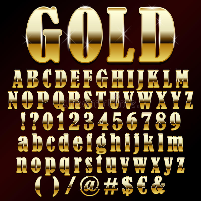 Download Vector gold font stock vector. Illustration of metal - 41174607