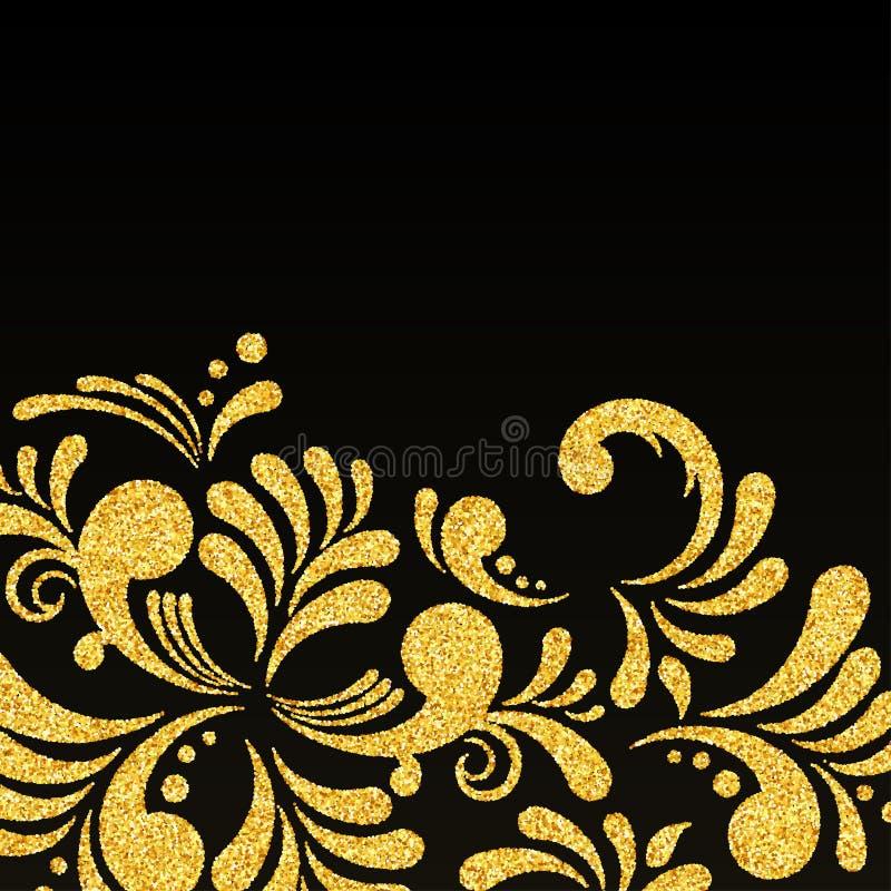 Vector gold glitter floral invitation card stock vector download vector gold glitter floral invitation card stock vector illustration of curle glitter stopboris Images