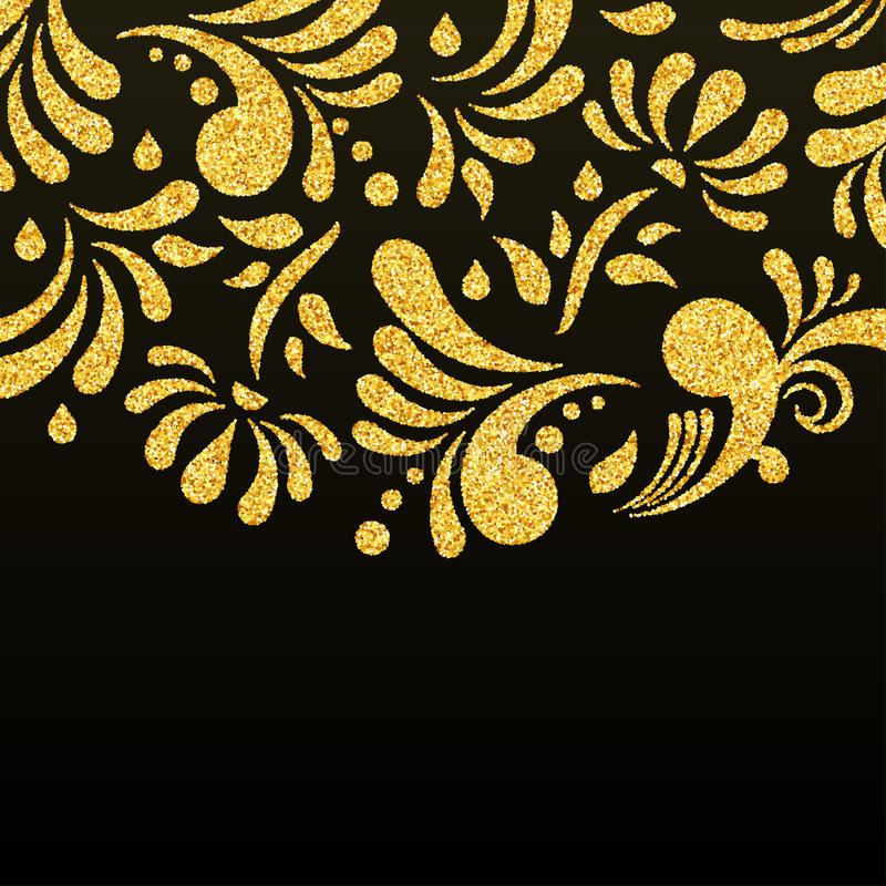 Vector gold glitter floral invitation card stock vector download vector gold glitter floral invitation card stock vector illustration of holiday concept stopboris Images