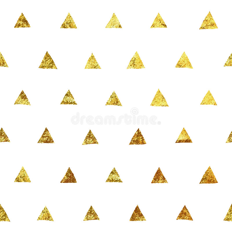 Vector gold glitter seamless pattern. Hand drawn gold glitter vector pattern. Seamless vector pattern for postcard, wallpaper, textile, fabric and others vector illustration