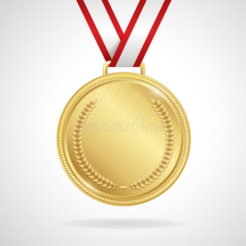 Free Vector Gold Medal With Ribbon Royalty Free Stock Image - 49942766