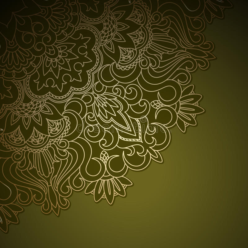 Download Vector gold ornament. stock vector. Image of background - 31743971