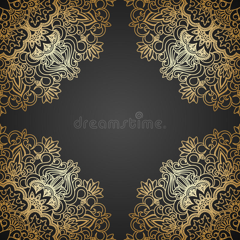 Download Vector gold ornament. stock vector. Image of luxury, line - 33996093
