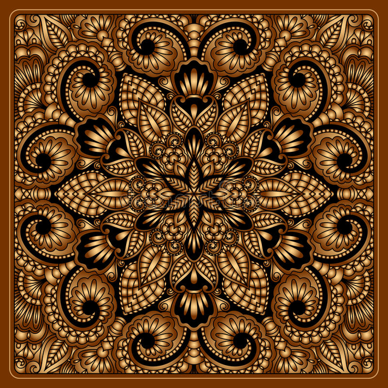 Download Vector gold ornament. stock vector. Image of filigree - 33831797