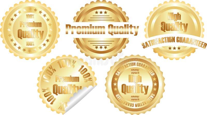 Vector gold  premium quality label
