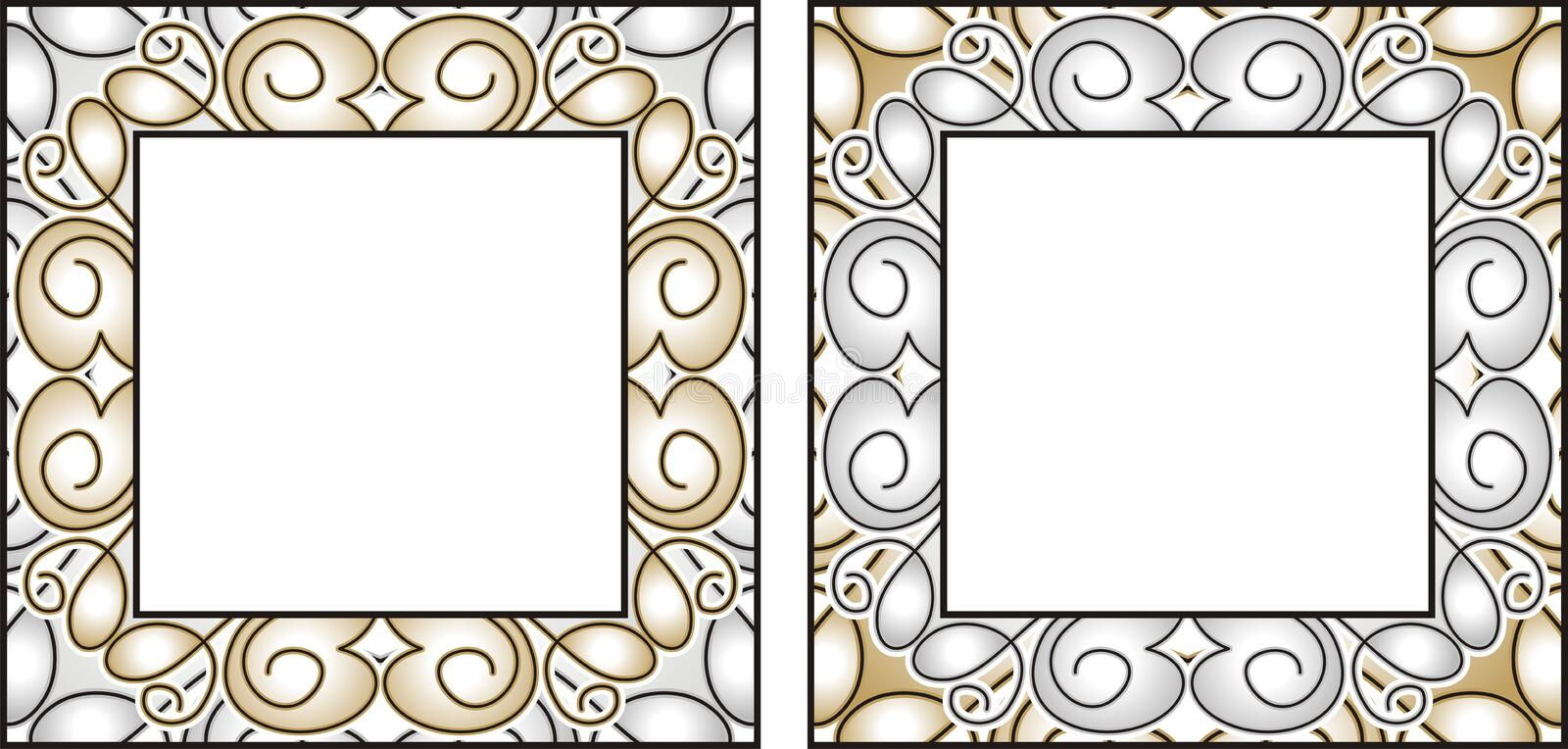 Vector Gold And Silver Frames Stock Vector - Illustration of banner ...