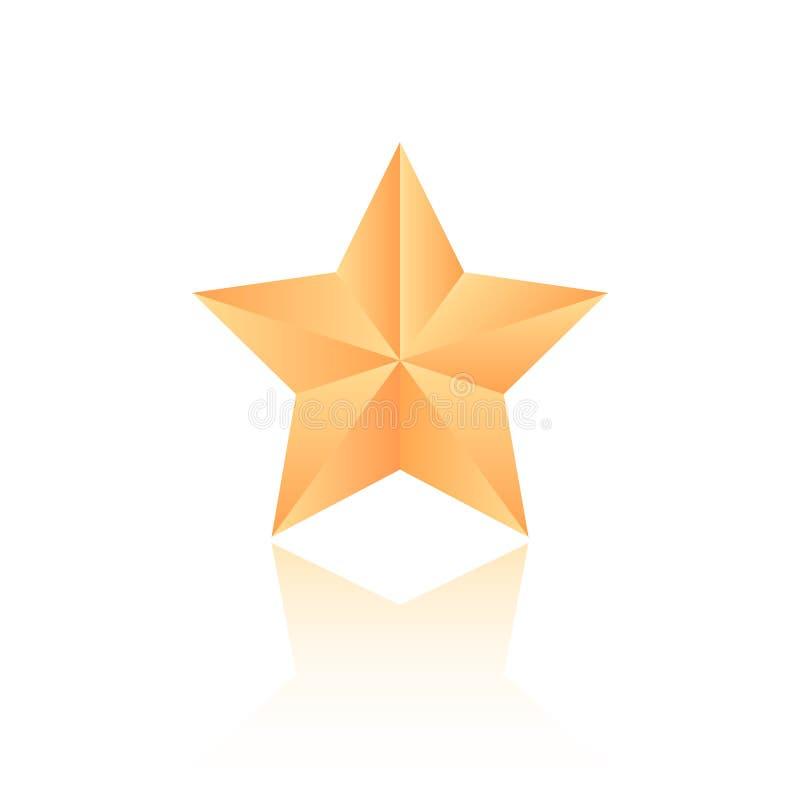 Vector gold star icon vector illustration