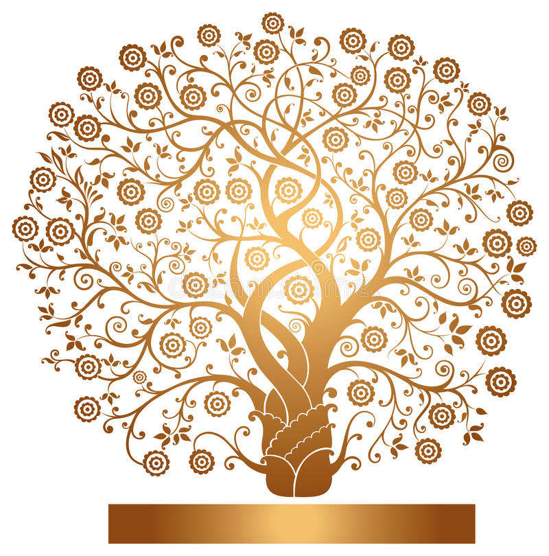 Free Vector Gold Tree Stock Photo - 19549270