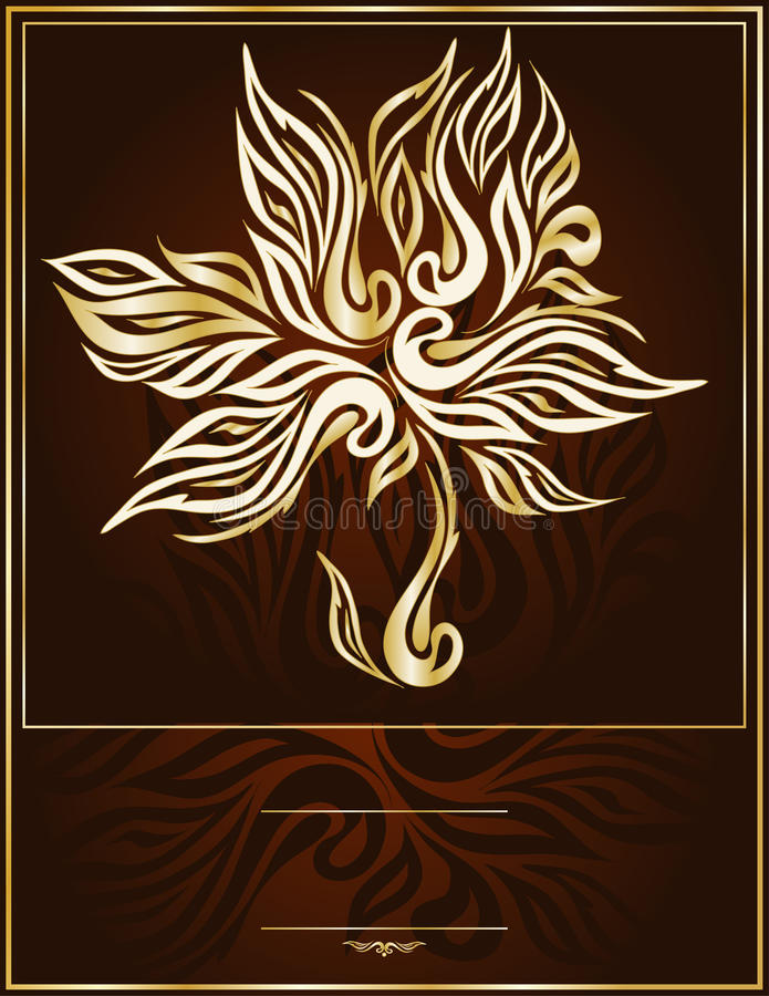 Download Vector Gold Tree In An Elegant Brown Background Royalty Free Stock Photo - Image: 19319065