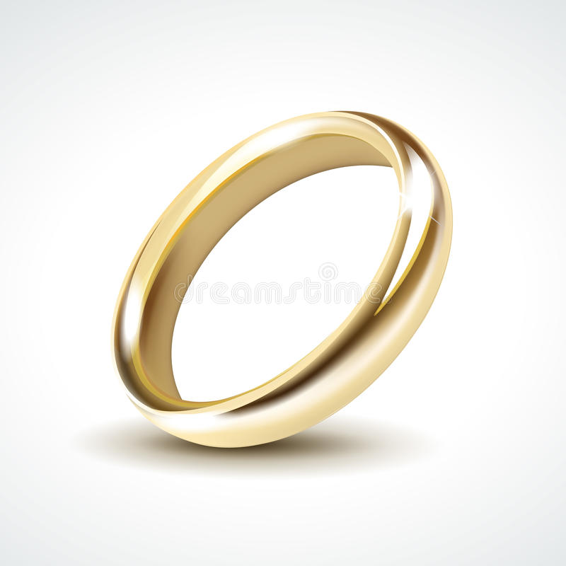 Vector Gold Wedding Ring Isolated royalty free illustration