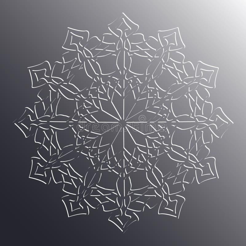 Vector Goldarabische Verzierung auf einem grauen Hintergrund stock abbildung